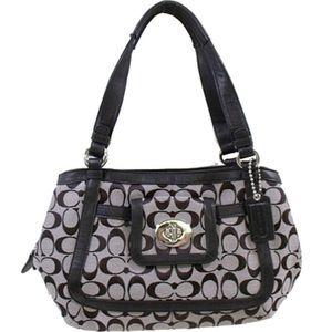 Coach F14934 signature satchel purse. EUC